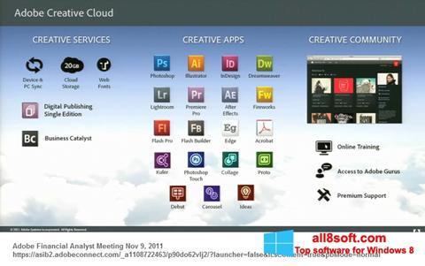 لقطة شاشة Adobe Creative Cloud لنظام التشغيل Windows 8