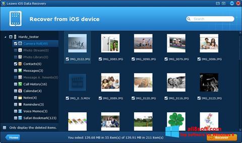 لقطة شاشة iPhone Data Recovery لنظام التشغيل Windows 8