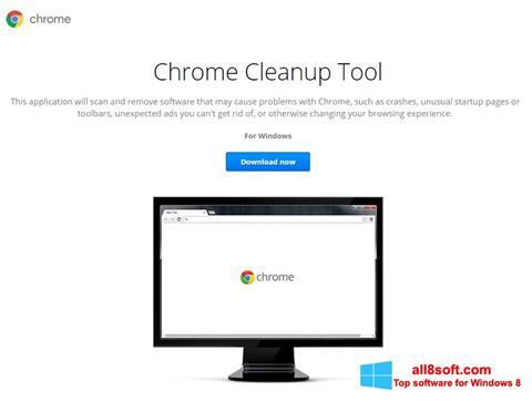 لقطة شاشة Chrome Cleanup Tool لنظام التشغيل Windows 8