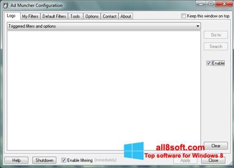 لقطة شاشة Ad Muncher لنظام التشغيل Windows 8