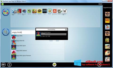 لقطة شاشة BlueStacks لنظام التشغيل Windows 8