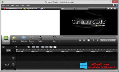 لقطة شاشة Camtasia Studio لنظام التشغيل Windows 8