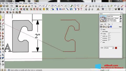 لقطة شاشة SketchUp لنظام التشغيل Windows 8