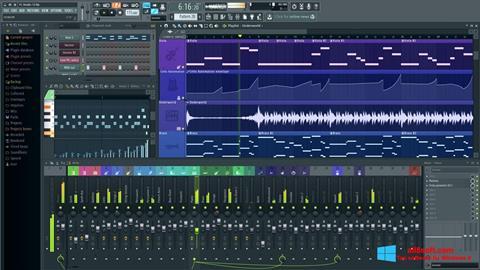 لقطة شاشة FL Studio لنظام التشغيل Windows 8