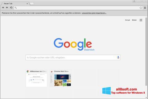 لقطة شاشة Google Chrome لنظام التشغيل Windows 8