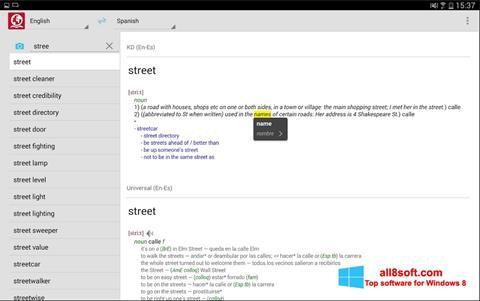 لقطة شاشة ABBYY Lingvo لنظام التشغيل Windows 8