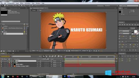 لقطة شاشة Adobe After Effects لنظام التشغيل Windows 8