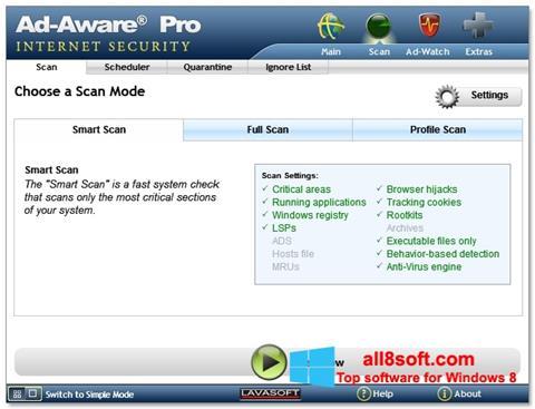 لقطة شاشة Ad-Aware لنظام التشغيل Windows 8
