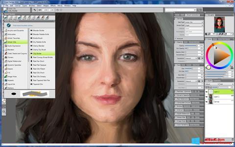 لقطة شاشة Corel Painter لنظام التشغيل Windows 8