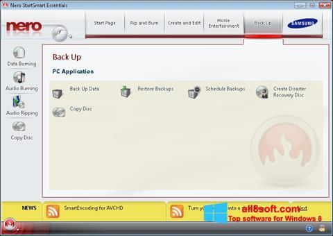 لقطة شاشة Nero لنظام التشغيل Windows 8