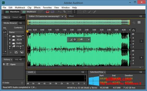 لقطة شاشة Adobe Audition CC لنظام التشغيل Windows 8