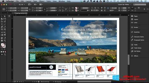 لقطة شاشة Adobe InDesign لنظام التشغيل Windows 8