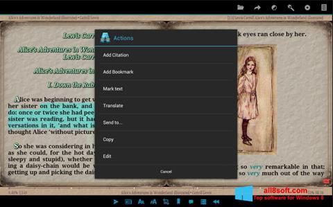 لقطة شاشة AlReader لنظام التشغيل Windows 8