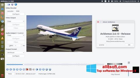 لقطة شاشة Avidemux لنظام التشغيل Windows 8