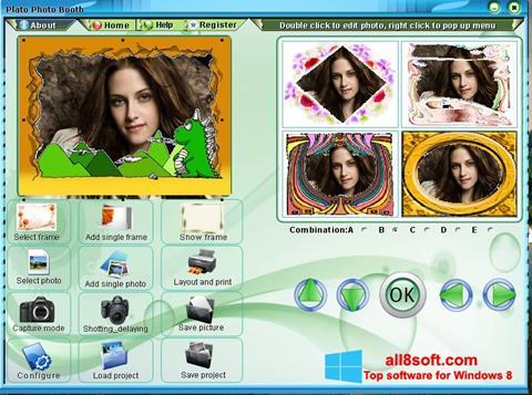 لقطة شاشة Photo Booth لنظام التشغيل Windows 8