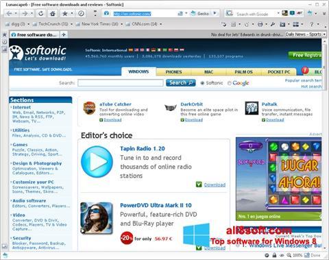 لقطة شاشة Lunascape لنظام التشغيل Windows 8