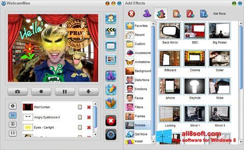لقطة شاشة WebcamMax لنظام التشغيل Windows 8